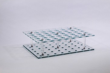 VP 418-48A - Polycarbonate Vial Rack 48 Wells, for 50 ml Centrifuge Tubes with Tuning Fork Stir Elements, 6 by 8 Array