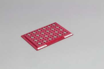 VP 771LD-4CS - Magnetic Separation Plate for 96 Well PCR Microplates Full Skirted, 24 Magnetic (52 MGO) Cylinders, Step Down Edge, SLAS Footprint, No Registration Base