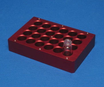 VP 416-ALB-24 - Aluminum Heat Block Insert with Eddy Current Defeating Design, 24 Wells 15.1 mm Diameter 20.7 mm Deep, SLAS Footprint