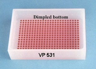 VP 531 - Polypropylene Reservoir with 384 Dimpled Bottom for 384 Robotic Pipettors, Max Capacity 200 ml, SLAS Footprint x 32 mm Tall