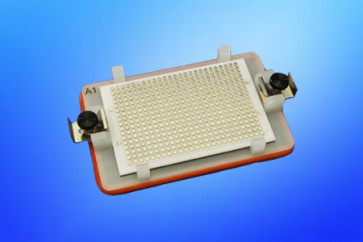 VP 771HH-G-4 - Flick and Blot Magnetic Separation Plate for 384 Well Flat, Round, V & Pyramid Bottom microplates, 425 Magnetic (52 MGO) Cylinders, White Polycarbonate Frame