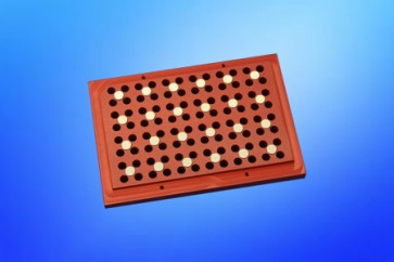 VP 771LB-1B - Magnetic Separation Plate for 96 Well PCR microplates, 24 Magnetic (52 MGO) Cylinders, No Registration Base, Step Down Edge, Not SLAS Footprint, Designed for Tecan Hydroflex Washer, Pellet at the 75-100 ul Level
