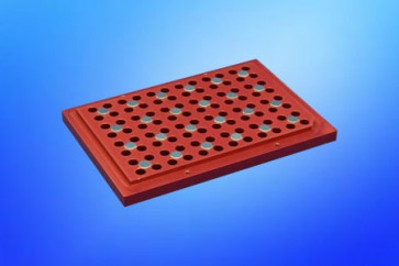 VP 771LB-3BS - Magnetic Separation Plate for 96 Well PCR microplates, 24 Magnetic (52 MGO) Cylinders, Step Down Edge, No Registration Base, Pellet at 75-100 ul level