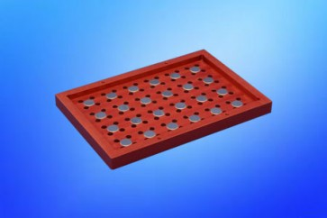 VP 771LC-3CS - Magnetic Separation Plate for 96 Well PCR microplates with half Skirt, 24 Magnetic (52 MGO) Cylinders, SLAS Footprint, No Registration Base