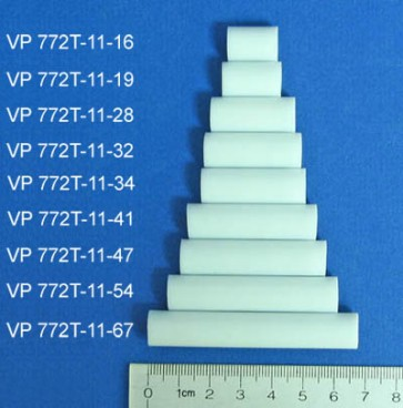 VP 772T-11-19 - PTFE Sandwich NdFeB Stir Bars for Bottles, Flasks, Beakers and Graduated Cylinders, 11 mm  Diameter x 19 mm Length