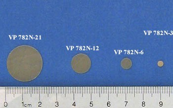 VP 782N-21 - Parylene encapsulated NdFeB (48 MGO) Stir Disc, 21.8 mm Diameter and 1.37 mm Thick