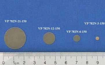 VP 782N-6-150 - Parylene encapsulated NdFeB (42 MGO) Stir Disc, 6.4 mm Diameter and 0.73 mm Thick