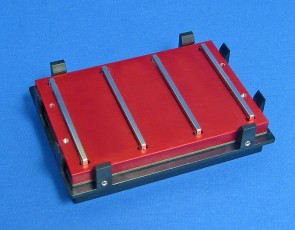 VP 771MAZM-1- Magnetic Separation Plate for 6, 24 & 48 Deep Well Flat, Round, or Pyramid bottom microplates, 4 Magnetic (50 MGO) Bars, Aluminum Frame, SLAS Footprint, High Profile Registration Base Included