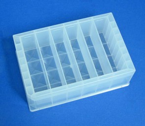 VP 572DC-6 - Molded Polypropylene Reservoir, Pyramid Bottom, 6 Compartments Holding 47 ml each, High Profile 44 mm Tall, 282 ml Max Capacity, SLAS Footprint