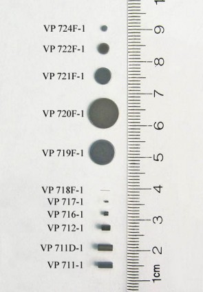 VP 722F-1 - Parylene Encapsulated Stainless Steel Stir Discs for 96 Well Microplates and microtubes,  3.46 mm diameter x 0.68 mm thick