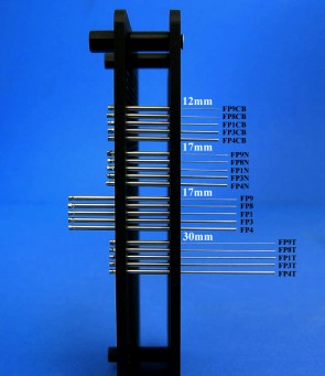 FP1NS10H - 0.457 mm Diameter Tube Style Floating Pin with 10 nl Slot tip, 17 mm exposed, Hydrophobic