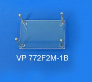 VP 772F2M-1B - Polycarbonate Non-Magnetic Holding Frame for Supporting all Tube Racks During Assay Processing, SLAS Footprint