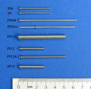 FP12A - 2.36 mm Diameter E-Clip Style Floating Pin with Blunt tip, 38 mm exposed