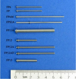 FP12AH - 2.36 mm Diameter E-Clip Style Floating Pin with Blunt tip, Hydrophobic