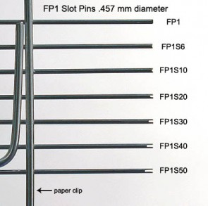FP1 - 0.457 mm Diameter Tube Style Floating Pin with Blunt tip, 17 mm exposed