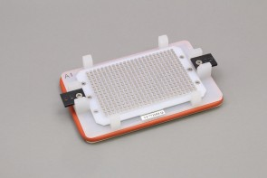 VP 771HH-Q - Flick and Blot Magnetic Separation Plate for 384 Well Flat, Round, V Pyramid Bottom microplates, 384 Magnetic (52 MGO) Cylinders, White Polycarbonate Frame, New Clips