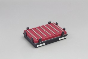 VP 771MZM-1 - Magnetic Separation Plate for 96 Deep Well Flat, Round, Pyramid bottom Microplates, 7 Magnetic (Middle Bar Notched) (50 MGO) Bars, Aluminum Frame, SLAS Footprint, High Profile Registration Base Included
