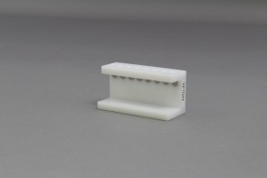 VP 772F4 - UHMW 8 place Magnetic Separation Rack for 0.2 ml PCR Tubes, with a  8 NdFeB Magnets 6.35 mm in Diameter, Pellet located 1/3 of the Way up the Tube