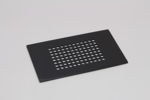 VP 530C1-BL - Black Delrin Lid for VP 530C-B with 96 Holes for 96 Robotic Pipettors, for Light Sensitive Reagents, Not Autoclavable