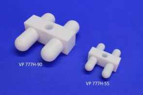 VP 777H-90 - PTFE Encapsulated SmCo H shaped Stir Bar with Spin Stand, Heat Resistant to 260 C, for Barrels, 30 mm Tall x 80 mm Wide x 90 mm Long