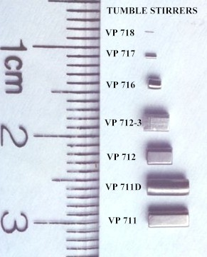 VP 716 - Stainless Steel Cylinder Stir Bar for 384 well microplates and 96 V bottom wells,  1.27 mm diameter x 1.52 mm length