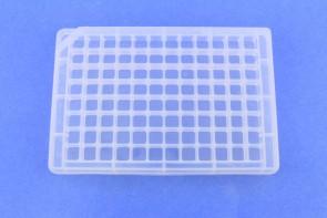 VP 416SA - 96 Well Amine Coated Polypropylene Microplate with Lid, for Pin Tool Dry Spotting Assays Bulk Pack, Case of 50