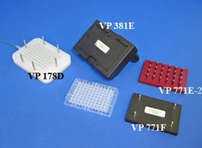 VP 178D - 96 Angled Channel Aspiration Manifold on 9 mm centers and 11 mm long for Microplates and VP 381E
