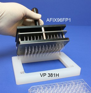 VP 381H - Alignment Jig for Registering Floating Pin Multi-Blot Replicators to 96, 384 and 1536 Well Standard Microplates