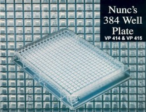 VP 415 - Nalge Nunc 384 Well Polystyrene Microplate with Lid, Sterile, Individual Pack, Case of 30