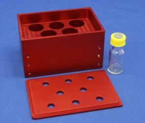 VP 416-ALB-8 - Aluminum Heat Block Insert with Eddy Current Defeating Design, 8 Wells 28 mm Diameter, SLAS Footprint