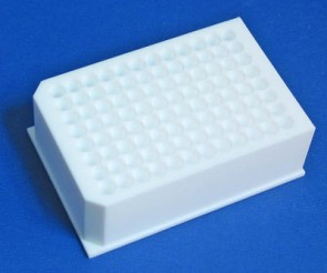 VP 416D-PTFE - PTFE Deep Well Microplate 96 Wells 8 mm Diameter 2 ml Volume, SLAS Footprint