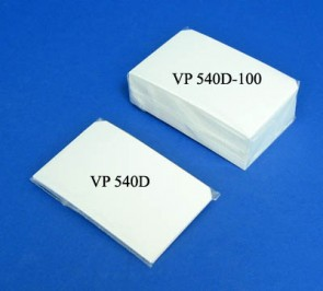 VP 540D - Lint Free Blotting Paper Cut to fit into VP 413 Omni Tray, for Cleaning Robotic Pin Tools, 10/PKG