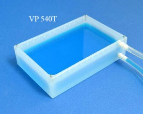 VP 540T - Polypropylene Reservoir, with Notches for VP 540F Anti-Splash Baffles, with Inlet and Outlet Nipples on Same End of Long Axis, with Locating Pins for Blotting Station, SLAS Footprint, Autoclavable