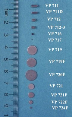 VP 721F - Stainless Steel Stir Discs for 96 Well Microplates,  5.08 mm diameter x 0.61 mm thick