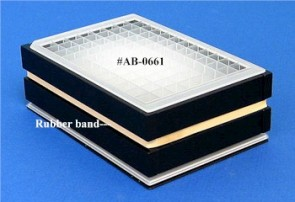 VP 741-I - Aluminum Heat Block Insert for AbGene Deep Well Microplates #AB-0661, Consists of Sculpted Bottom to Conform to Plate Bottom and Side and End Sections, for Efficient Heat Transfer, SLAS Footprint