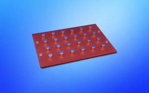 VP 771LA-1ZS - Magnetic Separation Plate for 96 Well Round, Pyramid & V Bottom microplates, 24 Magnetic (52 MGO) Cylinders, No Registration Base