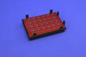 VP 771LAZM-1 - Magnetic Separation Plate for 96 Well PCR, Round or V Bottom microplates, 24 Magnetic (52 MGO) Cylinders, High Profile Registration Base Included
