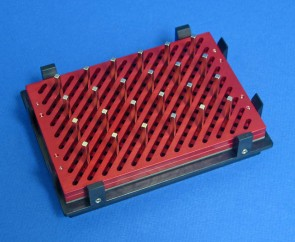 VP 771PAM-1 - Magnetic Separation Plate for 96 Deep Well with Open Architecture Microplates, 24 Magnetic (52 MGO) Rectangles, Aluminum Frame, SLAS Footprint, High Profile Registration Base Included