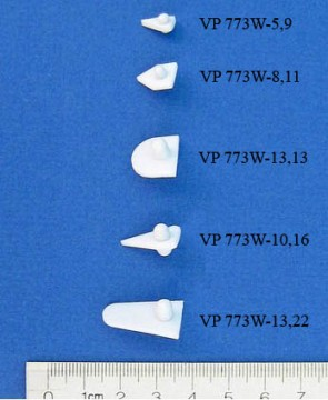 VP 773W-8,11 - PTFE Encapsulated Alnico Stir Wing for Conical or U Bottom Tubes & Vials, 8 mm wide x 11 mm Tall