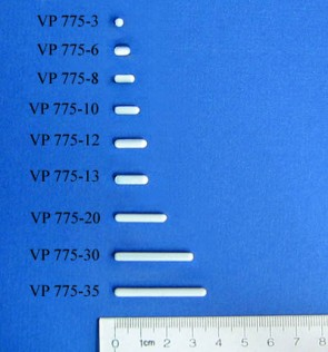 VP 775-3 - PTFE Encapsulated Alnico Stir Bar for Small Vessels & Beakers, 3 mm Diameter x 3 mm Long