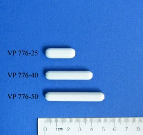 VP 776-40 - PTFE Encapsulated Alnico Stir Bar with Ridges, for Small Vessels, 8 mm Diameter x 40 mm Long