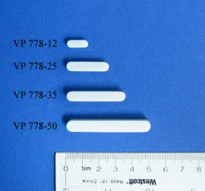 VP 778-12 - PTFE Encapsulated Alnico Square Stir Bar, Heat Resistant to 260 C, for Small Vessels, 4 mm x 4 mm x 12 mm Long
