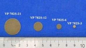 VP 782S-3 - Parylene encapsulated SmCo (29 MGO) Stir Disc, 3.4 mm Diameter and 0.73 mm Thick