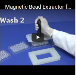 Magnetic Bead Extractor for 96 Well Microplates