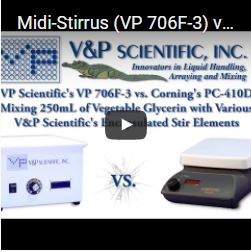 Midi-Stirrus (VP 706F-3) vs A standard Stir Plate (PC 410D)