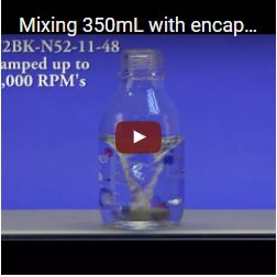 Mixing 350mL with encapsulated stir elements