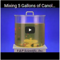 Mixing 5 Gallons of Canola Oil with the VP 706F-3 and a Suspended Stir Element
