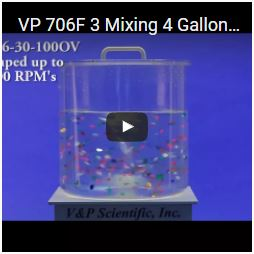 VP 706F 3 Mixing 4 Gallons of Water
